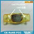 China printing logo gleamy custom led