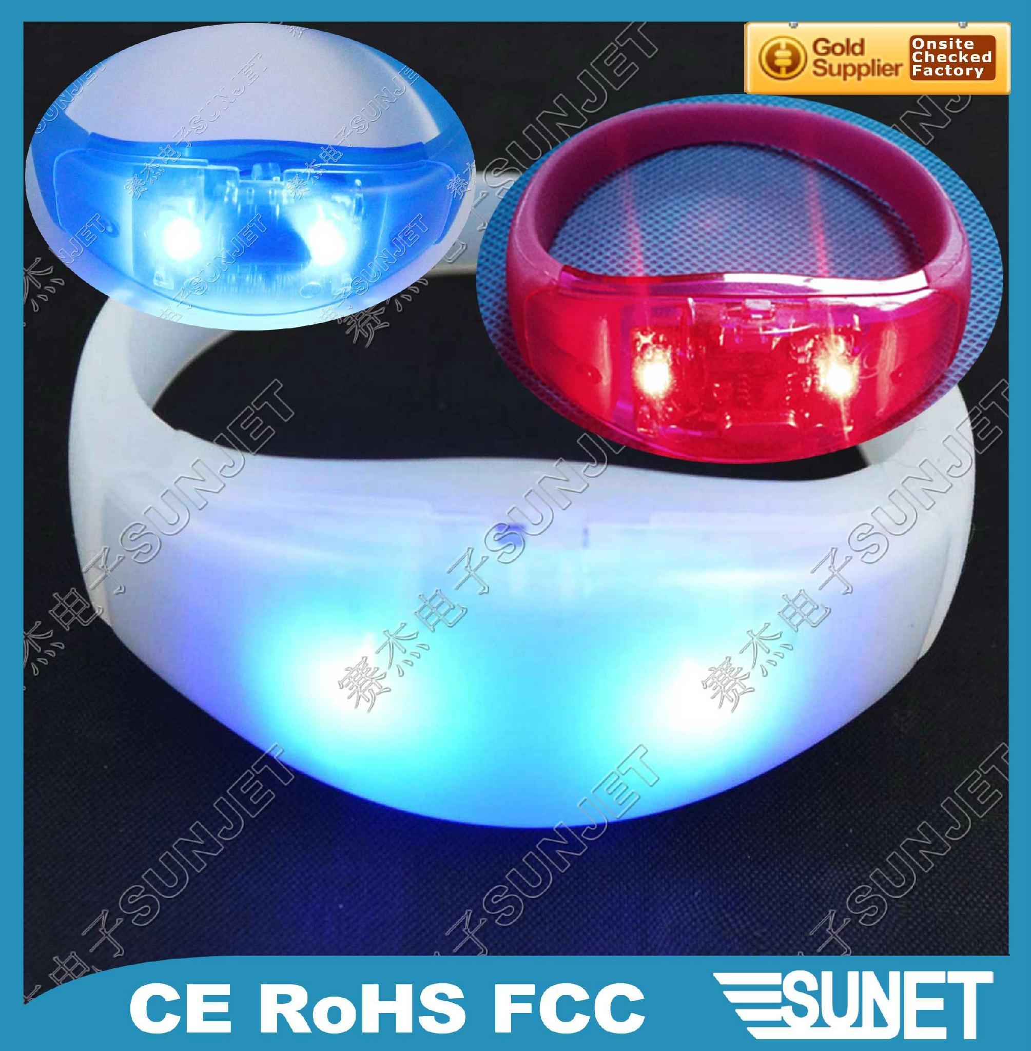 Party custom silicone flashing led bracelet 1