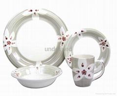 手繪16頭陶瓷餐具