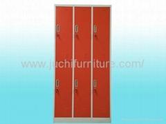 Six door clothes cabinet locker