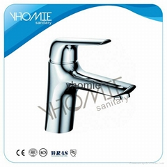 Modern design single handle hot cold water basin faucet