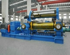 two roll mixing mill with blender