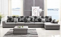 客厅零甲醛沙发舒适面料木质工艺五件套