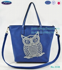China factory PU fashion designer handbags for ladies