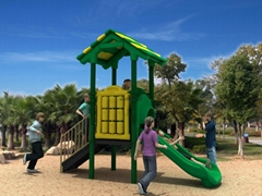 Kids Plastic Outdoor Playground Equipment