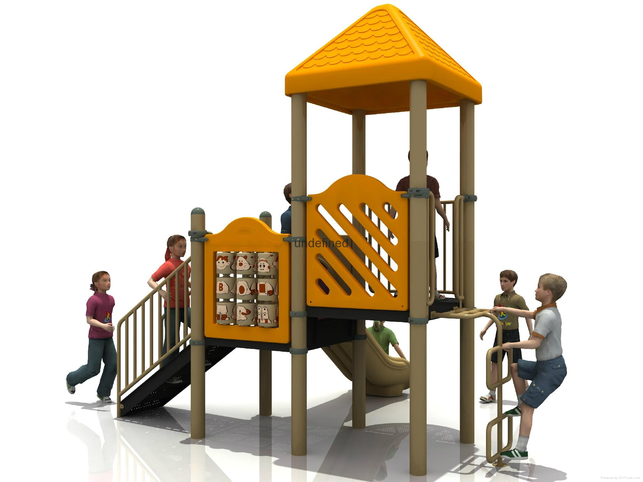 Carton Series kids outdoor playground Fitness equipment 2