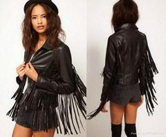 2015 design france fashion fringe jacket woman clothing