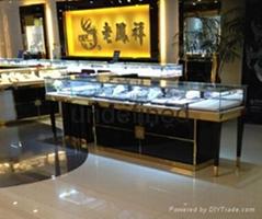厦门珠宝展示柜板材框架烤漆工艺