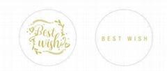Transparent  sticker with gold /si  er logo