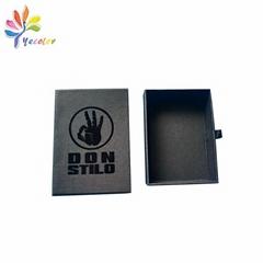 Custom black drawer gift box for jewellery
