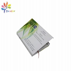 Book-shape magnetic box with printing