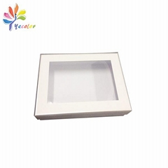 Customized cosmetic packaging with window