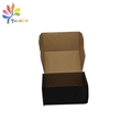 Black shipping box with silver logo