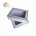 White gift box with window for cosmetic kit