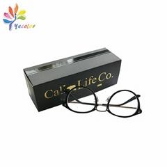 Matt black paper box for sunglasses package