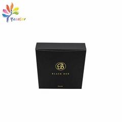 黑色烫金logo纸盒