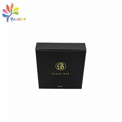 黑色燙金logo紙盒