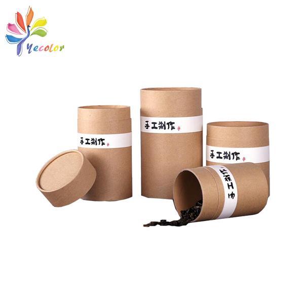 Kraft cylinder box for tea package  1