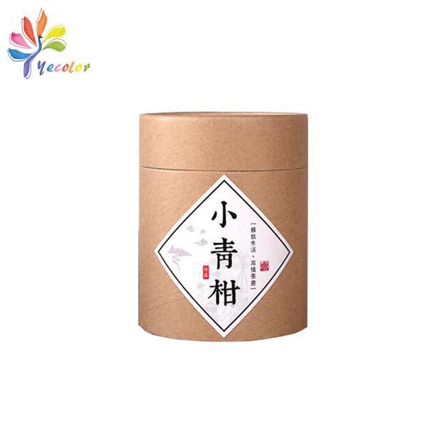Kraft cylinder box for tea package  4
