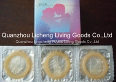 latex condoms 3pcs a wallet/box
