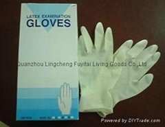 Medical Latex examinational Gloves with low price high quality