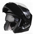 Flip up chin bar helmet with