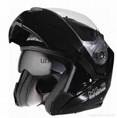 Flip up chin bar helmet with communication--ECE/DOTcertification