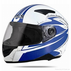 Double visor Full face helmet with high