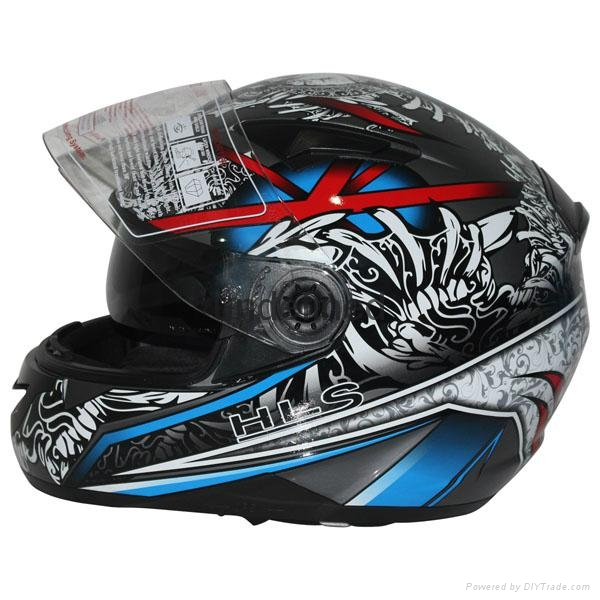 High quality ECE Approved Motorcycle double visor helmet with ECE Approved 2