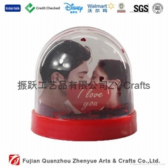 High Quality Plastic Snow Globe With Photo Insert
