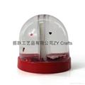 High Quality Plastic Snow Globe With Photo Insert 3