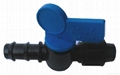 Barbed Connector with Valve for drip