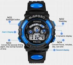Sports Digital LED Quartz Alarm Date Wrist Watch