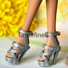 11.5 inch barbie doll shoes plastic mini doll shoes