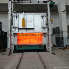Energy-saving heat treatment  bogie-hearth resistance furnace