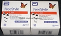 100 count Freestyle Glucose Test Strips