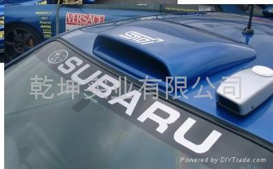 Subaru Roof Scoops Amp Rally Roof Scoop Front View