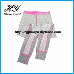 Merino Wool Long Johns Pant Underwear