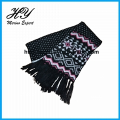 Merino Wool Knitted Scarf