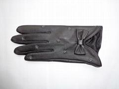 供應時尚保暖皮手套