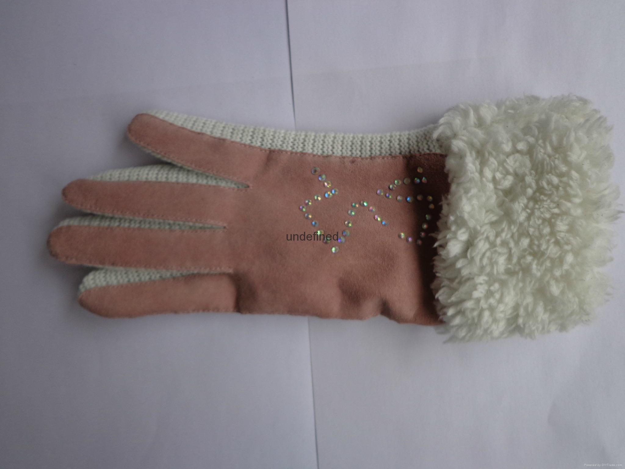 供應時尚保暖皮手套 2