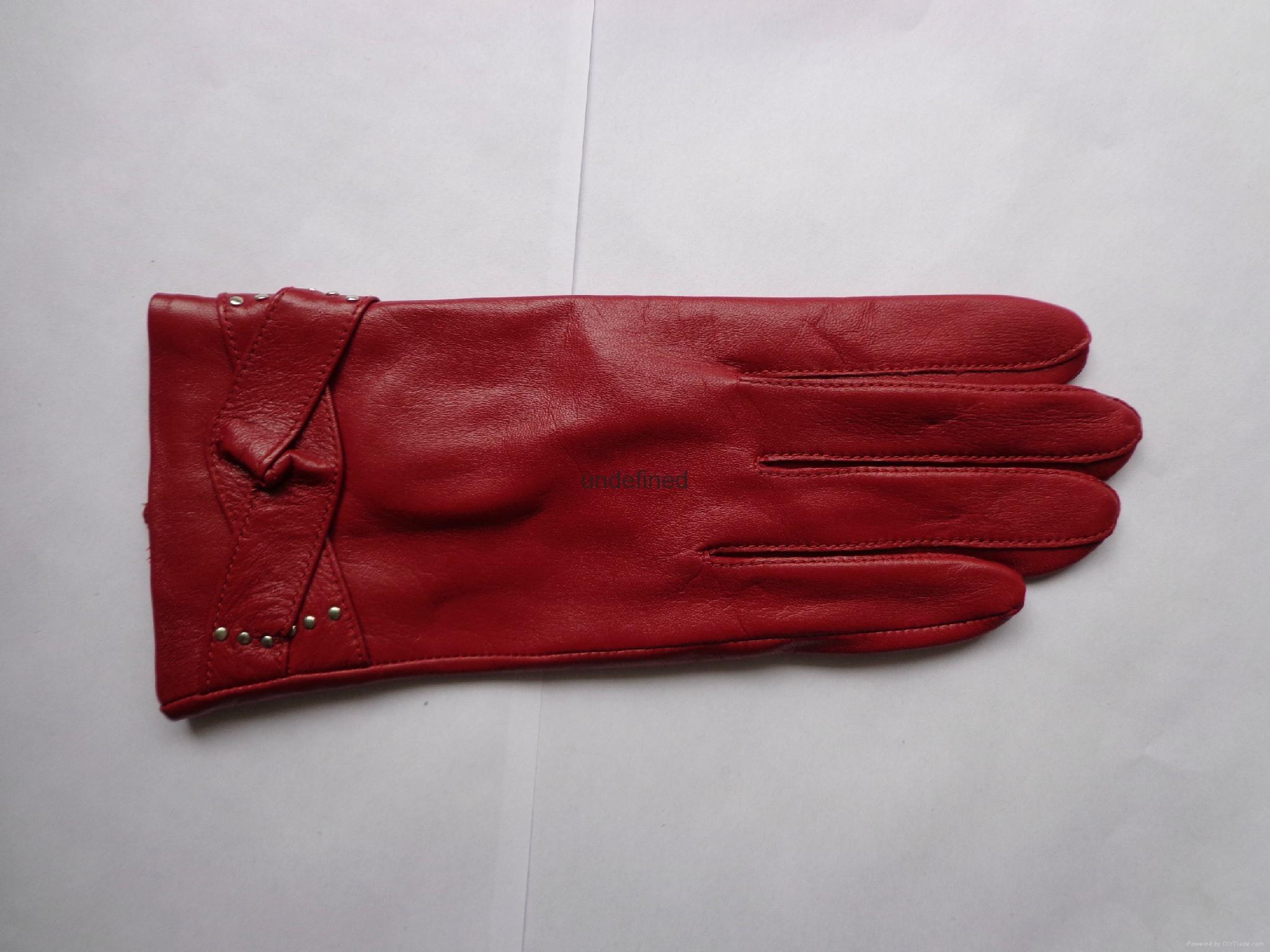 供應時尚保暖皮手套 3