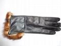 供應時尚保暖皮手套 4