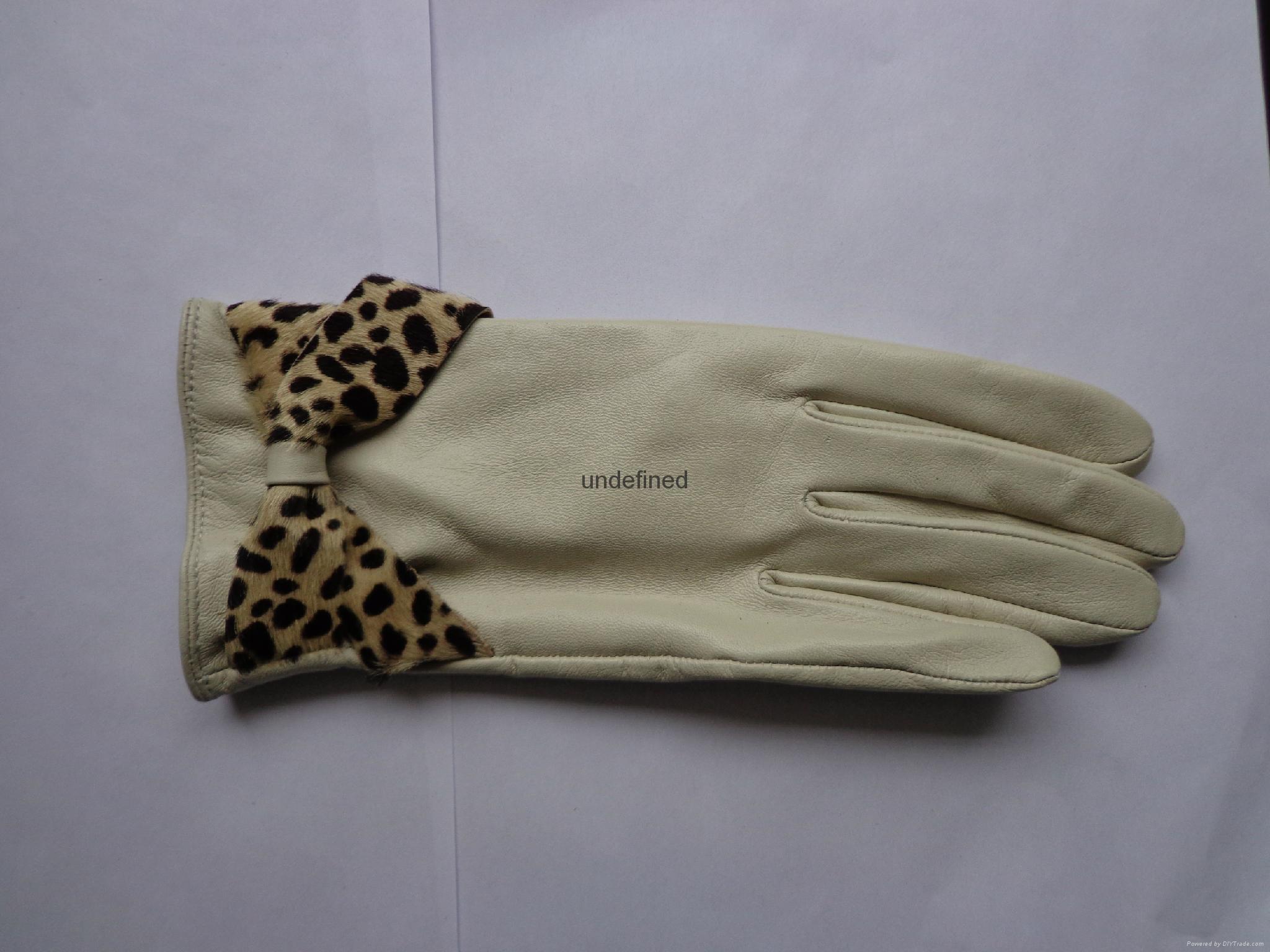 供應時尚保暖皮手套 5