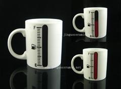 Ceramic porcelain coffee color changing mug