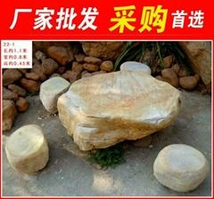 中山形态各异黄蜡石