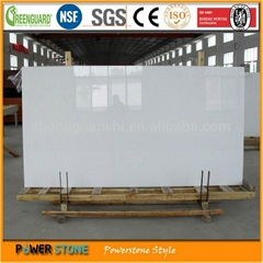 NSF Certified Safe Material White Man made Quartz Slab
