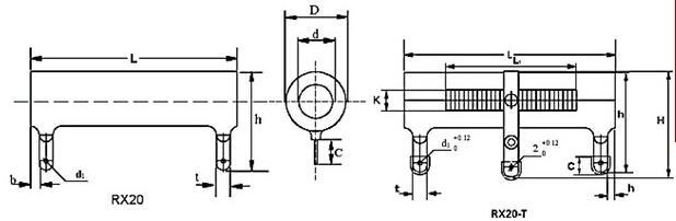 RX20大功率被釉繞線電阻 2