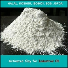 Activated bleaching earth for refining  industrial oil