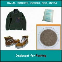 Desiccant for packing